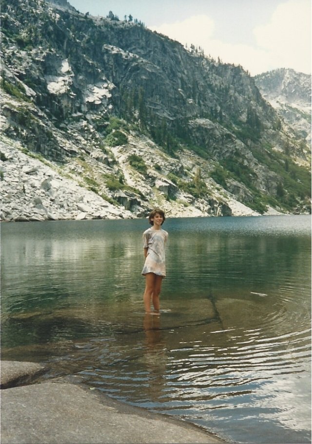 Katie in the Trinity Alps.
