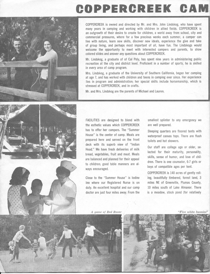 First camp brochure; page 2