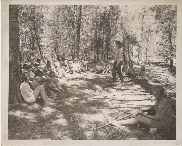 Vespers at the old cedar tree.