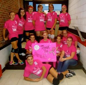 Emma D's volleyball team