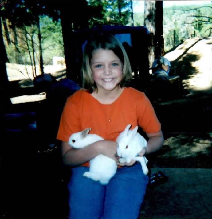 Kathie as a camper at camp.