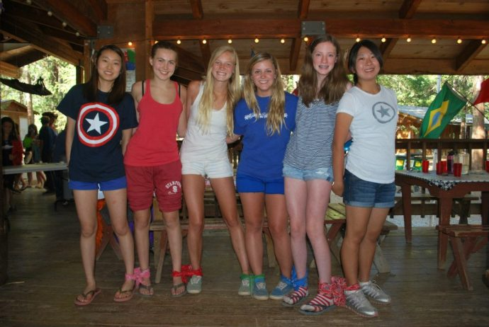 Kathie and her cabin group for 4th of July