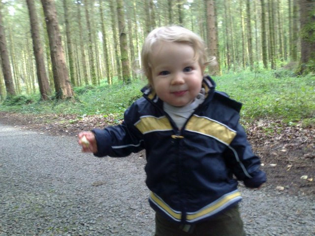 Ronan in the woods 2