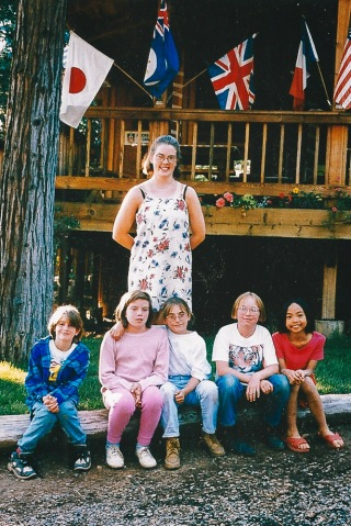 Amy and her cabin group- 1996