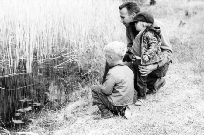 Dad Lornie and I - Camp pond 1965