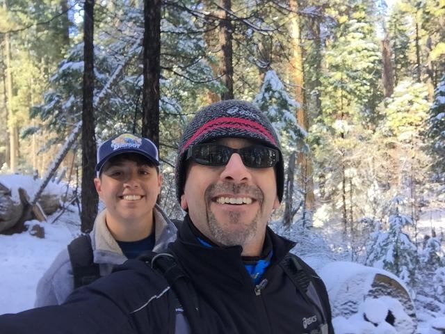 Snow with Papá