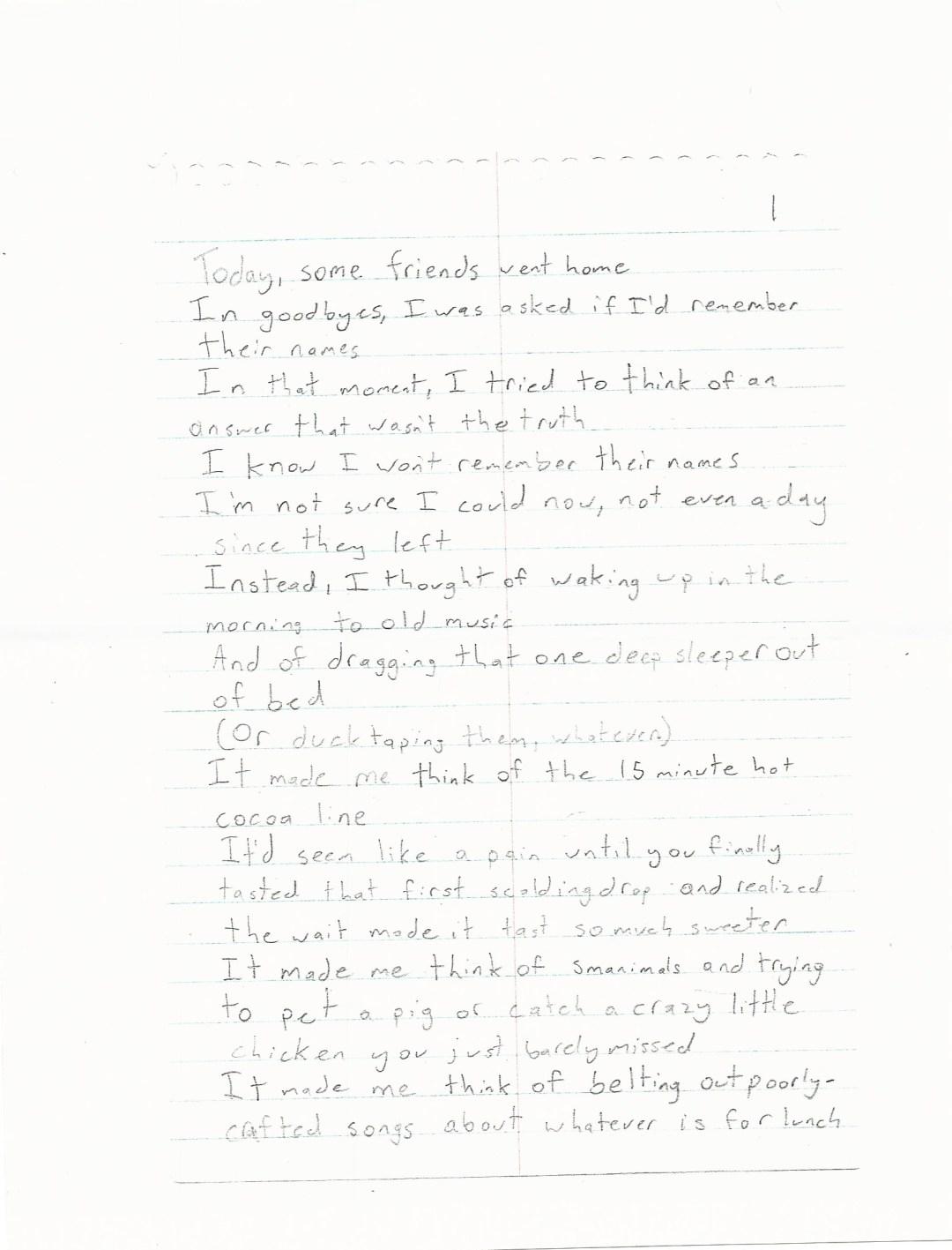 Poem- Gracie